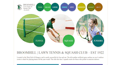 Preview of broomhill-tennis-squash.co.uk