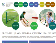Tablet Preview of broomhill-tennis-squash.co.uk